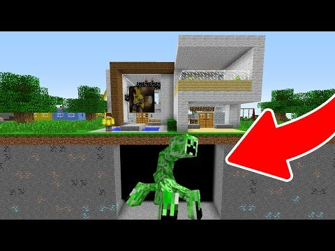 EVİMİN ALTINDA DEV MUTANT CREEPER BULDUM! 😱 - Minecraft