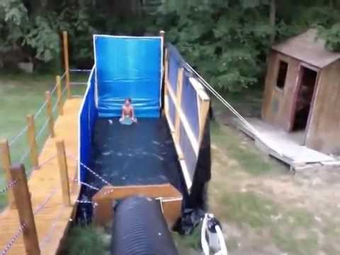 Backyard Waterslide extreme redneck backyard waterslide!!!! - youtube
