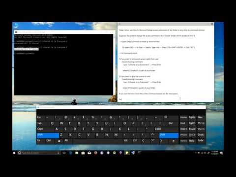 How To Remove/Change Access Permissions Of Any Folder Or Drive In Command Prompt