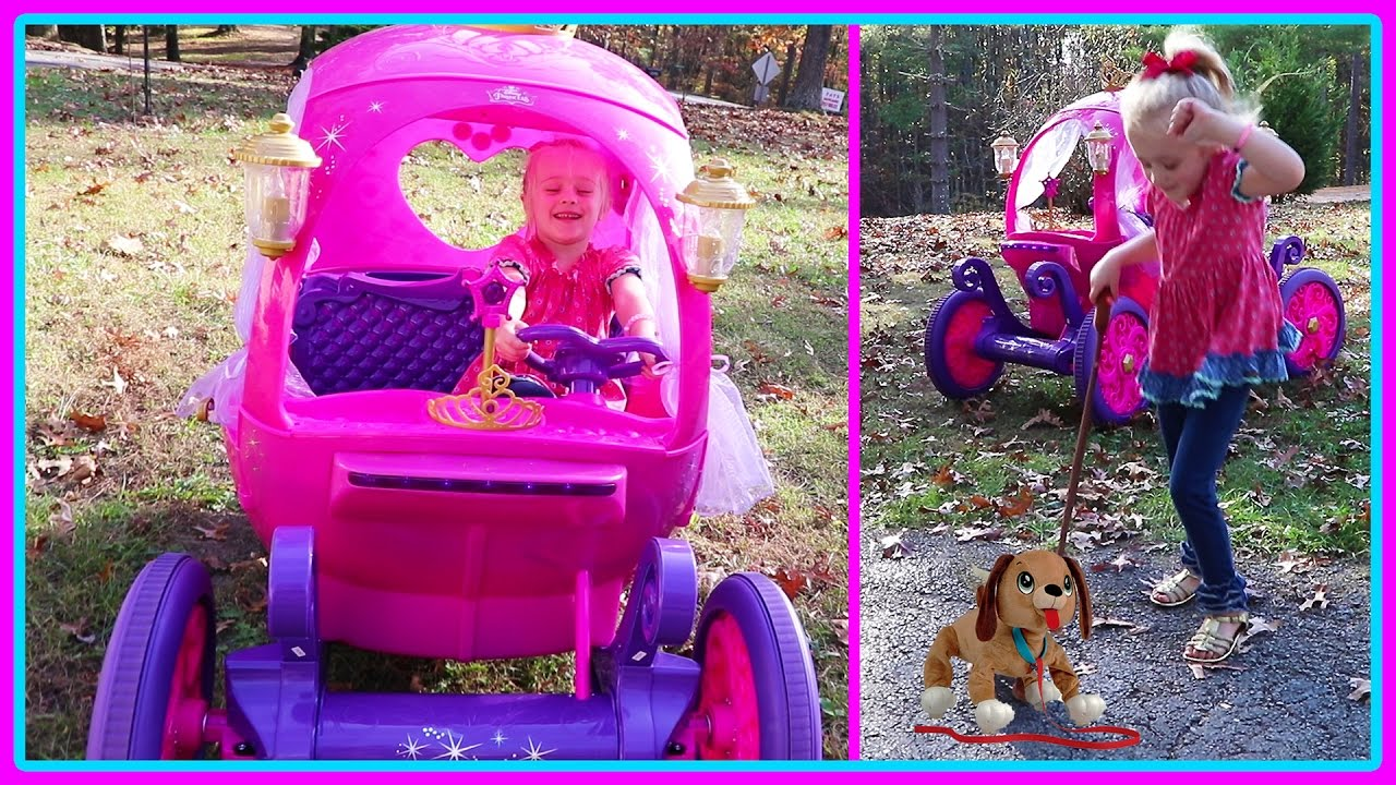 c37e2b0b67f Lost Puppy Rescue Mission in the 24V Disney Princess Carriage Power Wheels    Pirate Ship Playground