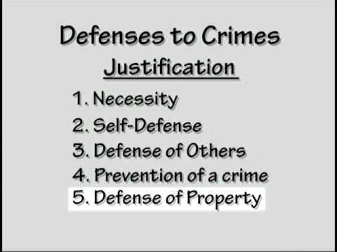 Crim Law  #4:Defenses to Crimes  Justification, Excuse, Mitigation Part 1 of 3
