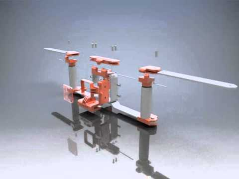 Mantis GoPro Handle System Exploded View Animation