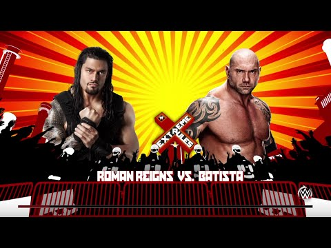 "WWE 2K15- Roman Reigns vs Batista ""WWE Univers"" at Extreme Rule  2015 (PS4)"