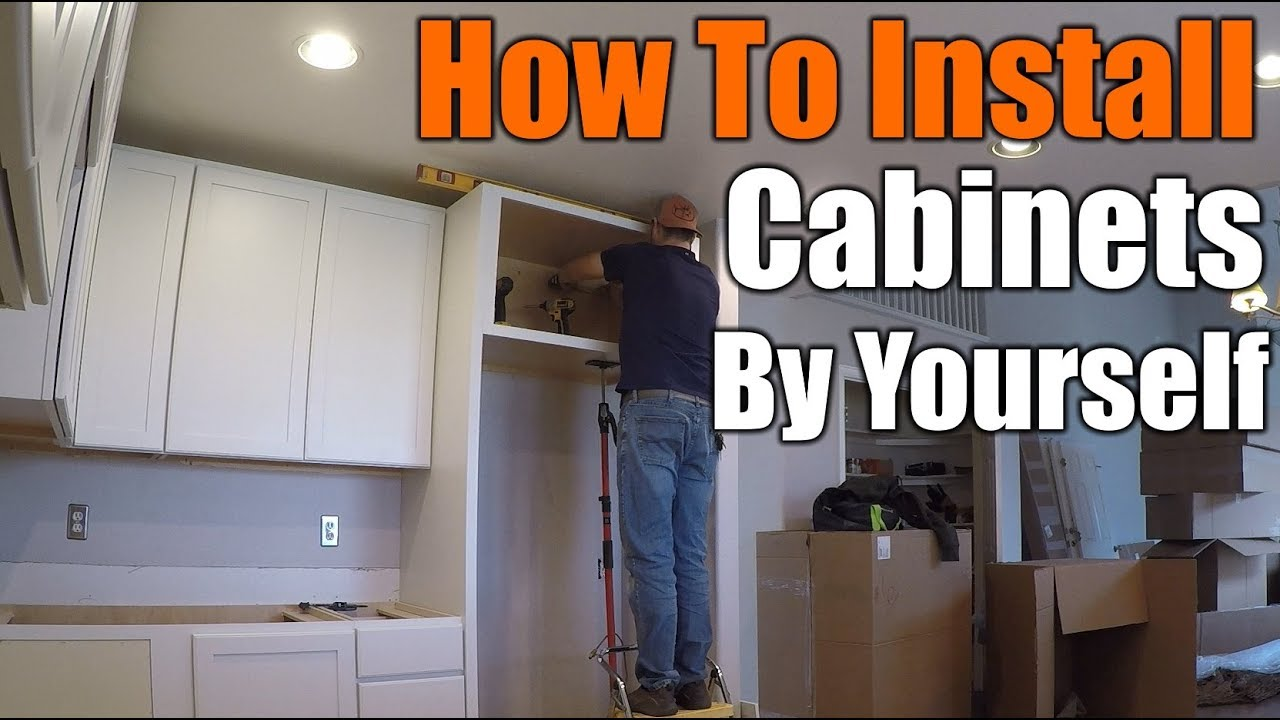 How To Install Upper Kitchen Cabinets How To Install Upper Kitchen Cabinets By Yourself | THE HANDYMAN