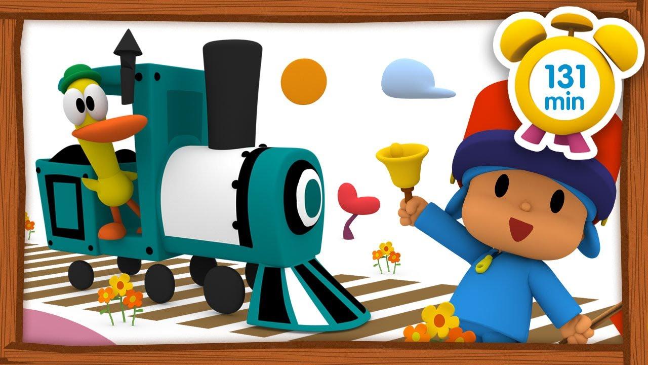 🚂 POCOYO em PORTUGUÊS do BRASIL - Viagem de trem [131 min] | DESENHOS ANIMADOS para crianças