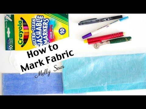 Learn How To Use Fabric Marking Tools