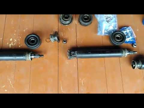 Сбор карданного вала и замена подвесных подшипников Nissan Presage NU30