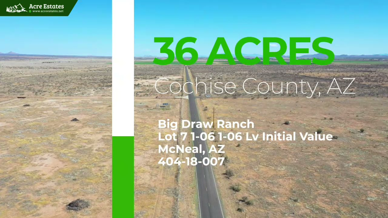 36 Acre Secluded Private Lot near Chiricahua National Forest in McNeal, AZ.