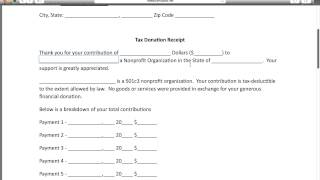 mqdefault Quickbooks Donation Letter Template on sample memorial, basket raffle, municipality thank you,