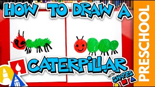 Drawing A Caterpillar Using Shapes - Preschool