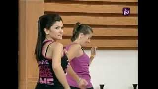 Repeat youtube video عرض لرياضة رقصة الزومبا في برنامج دنيا يا دنيا   Roya - YouTube