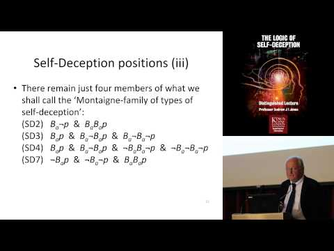 Distinguished Lecture: Andrew Jones - The Logic of Self-Dece