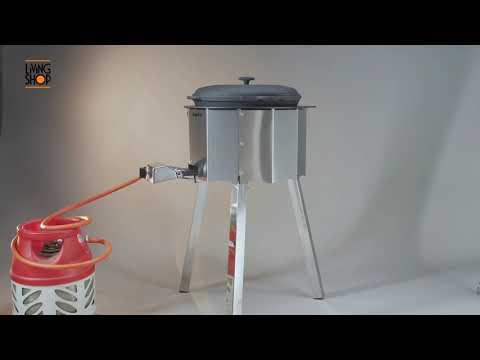 Обзор газовой печи для казана с горелками разной мощности