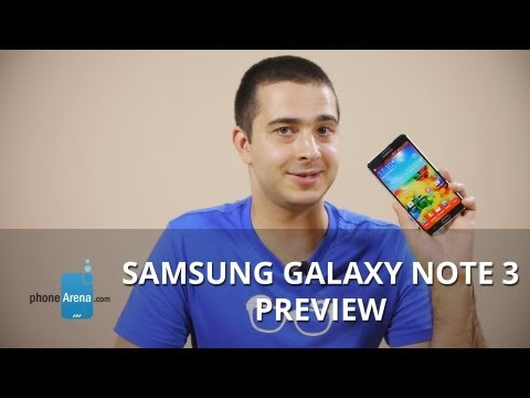 Samsung Galaxy Note 3 Preview