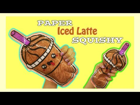 DIY PAPER SQUISHY/ HOW TO MAKE ICED COFFEE LATTE PAPER SQUISHY