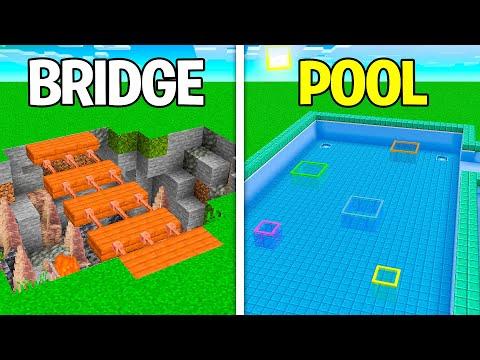 30+ Minecraft Simple Build Hacks & Ideas!