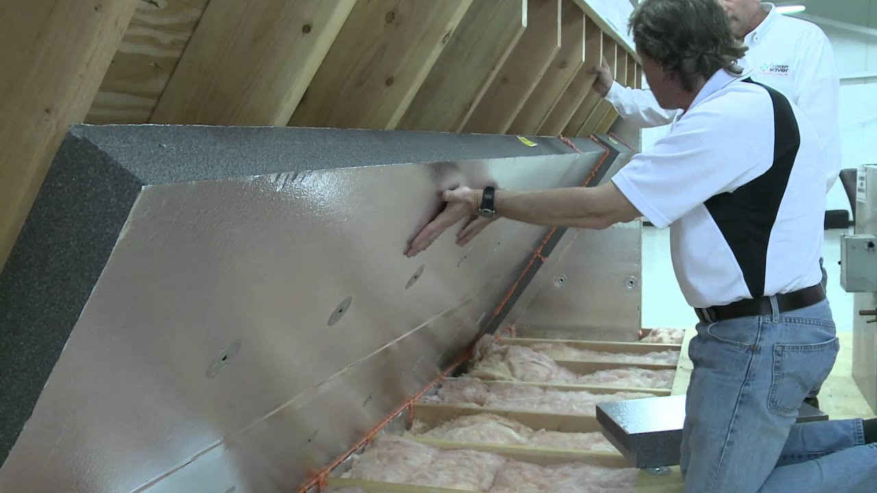 Installing a radiant barrier in the attic alternative method to installing a radiant barrier in the attic alternative method to insulate the attic youtube solutioingenieria Images