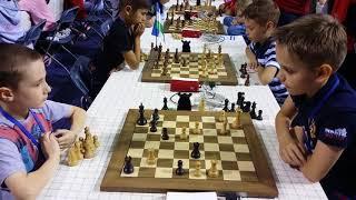 2018-06-24 Kolesov - Cherniaev World Cadet Chess Blitz Campionship in Minsk