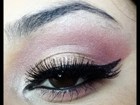 Wearable Pink Eyeshadow Tutorial for Brown Eyes - YouTube