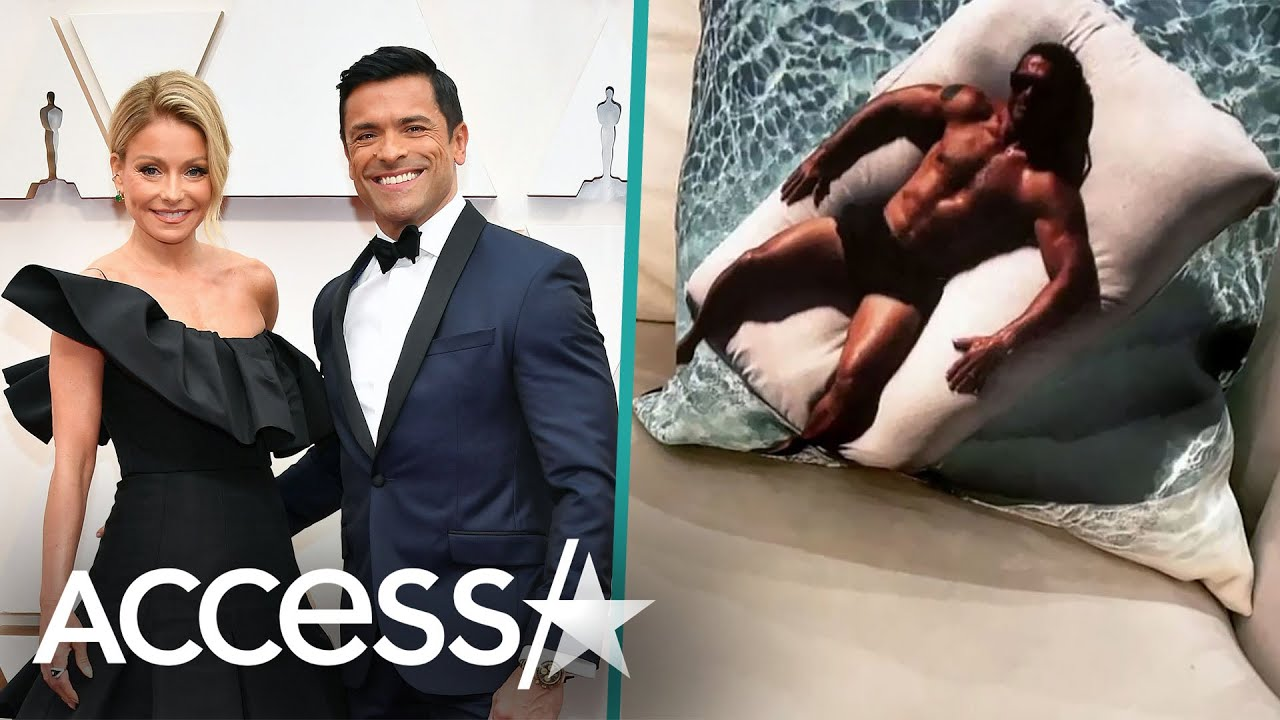 Kelly Ripa Shows Off Pillow Of Shirtless Hubby Mark Consuelos