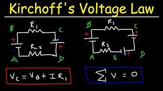Kirchhoff's Voltage Law - KVL Circuits, Loop Rule & Ohm's Law - Series Circuits, Physics