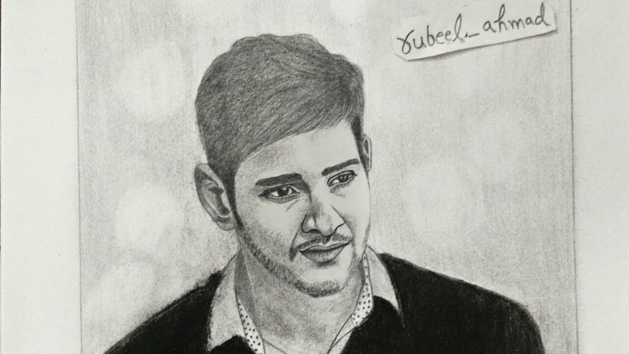 Sketch of mahesh babu pencil sketch charcoal pencil