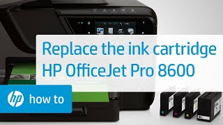 Replacing a Cartridge - HP Officejet Pro 8600 e-All-in-One(Don't know which cartridge you need? Visit http://www.suresupply.com. This video shows you how to replace a print cartridge in your HP printer. The printer ..., 2012-04-24T17:02:25.000Z)