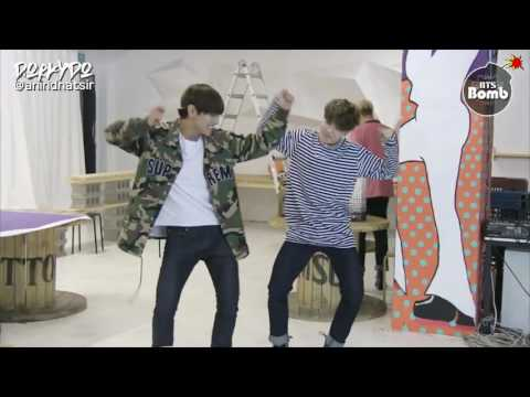 [INDO SUB] [BANGTAN BOMB] Free dance time with JIMIN & V