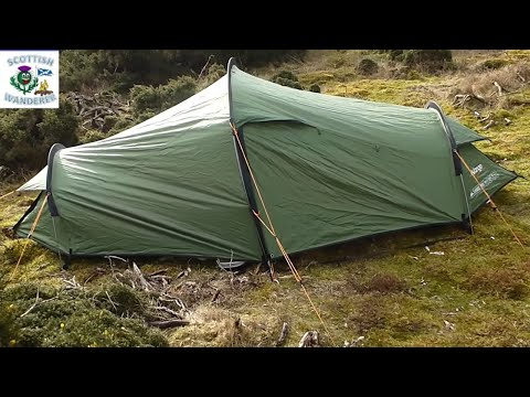 Wild camping In Scotland In The Vango Sabre/Banshee 200 backpacking tent