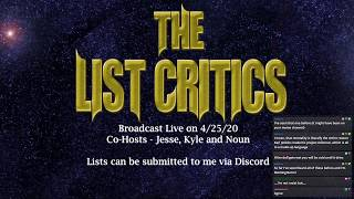 The List Critics - April 2020