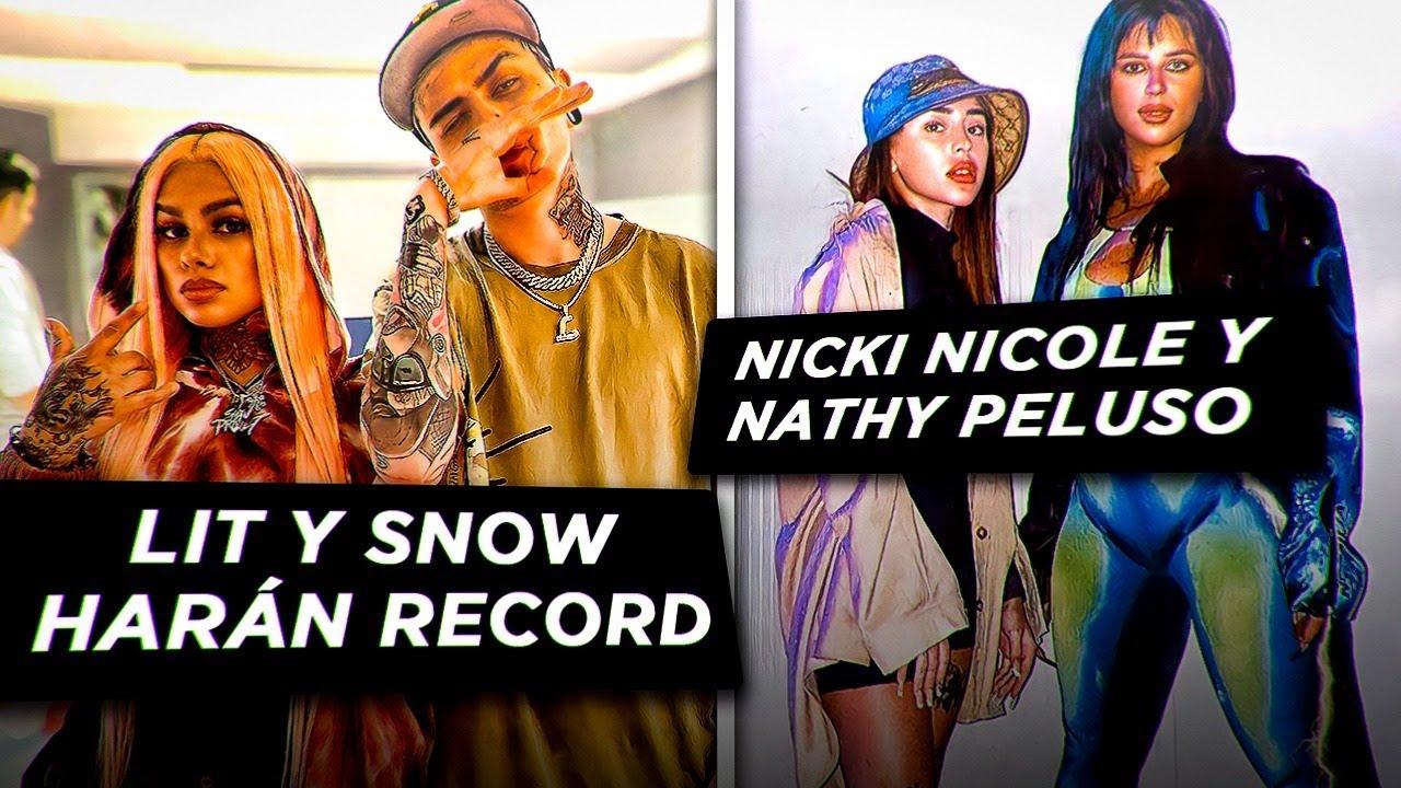 Lit Killah y Snow Tha Prodcut grabando, Nicki Nicole y Nathy Peluso juntas! Duki, Tini y Mya