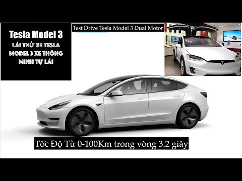 Cuộc Sống Mỹ -Test drive Tesla Model 3 Dual Motor - Mua Xe Điện Tesla cho Bà Xả.
