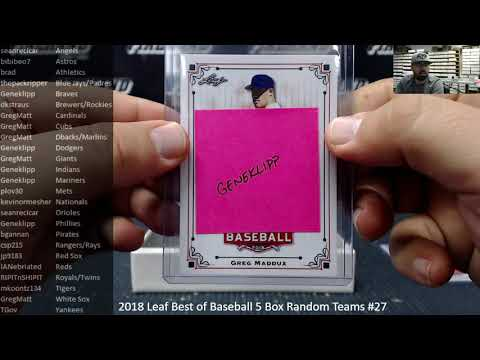 12/7/2018 2018 Leaf Best of Baseball 5 Box Random Teams #27