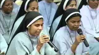 Nuns from Dharmaram (bangalore) rendering devotional songs in Guruji