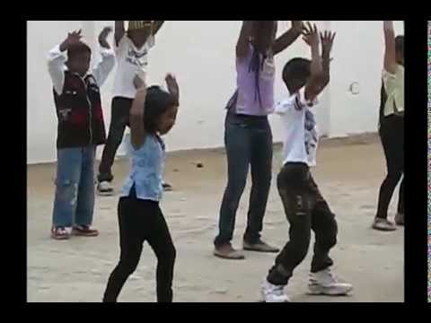 Kid's dancing in a School programme in Togo, AFrica