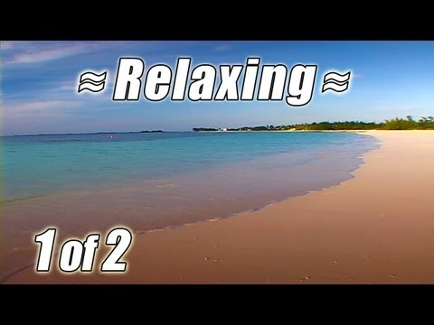 RELAXING Wave SOUNDS OF NATURE #1 Best Ocean Waves BAHAMAS BEACHES Relaxation Video Relax