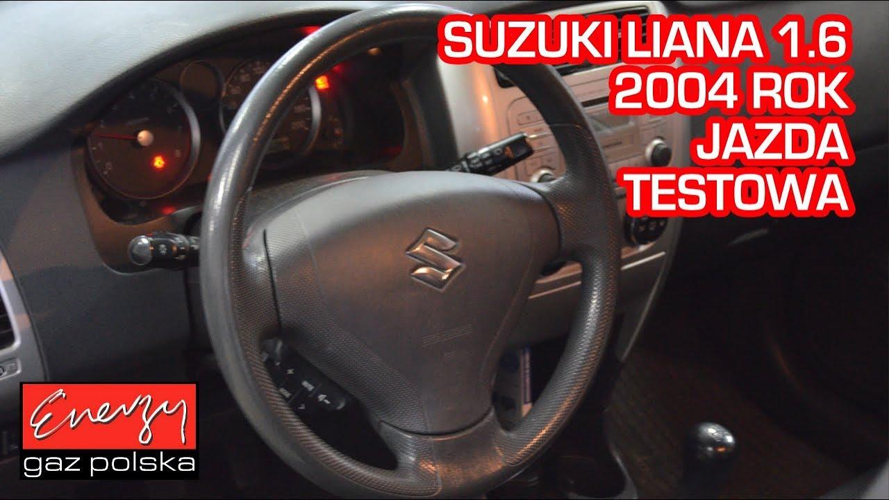 Jazda próbna testowa: Test LPG Suzuki Liana 1.6 2004r 105 KM w Energy Gaz Polska na auto gaz BRC