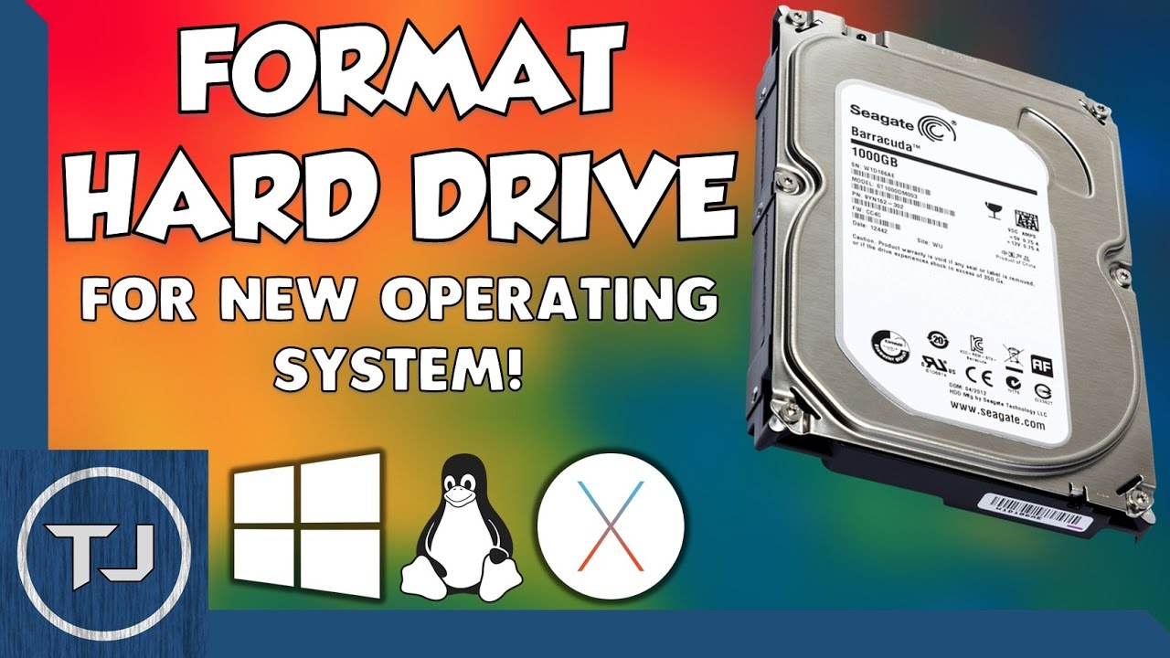 how to format a hard drive without operating system