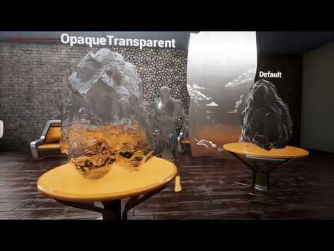 UE4 Opaque Transparent shading model experiments