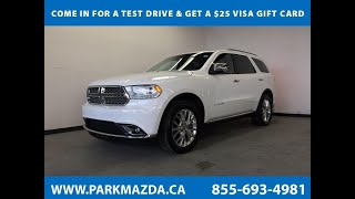 WHITE 2014 Dodge Durango  Review Sherwood Park Alberta - Park Mazda