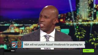NBA will not punish Russell Westbrook for pushing fan   NBA Countdoewn