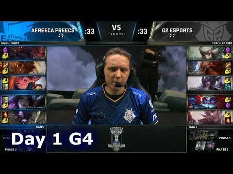 AFS vs G2 | Day 1 Group Stage S8 LoL Worlds 2018 | Afreeca Freecs vs G2 eSports