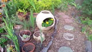 Chimeneya planter in the garden