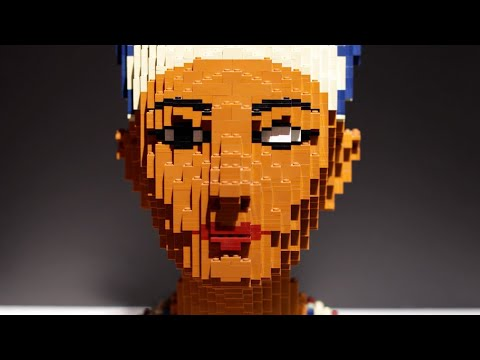 LEGO art and sculptures featured at the Perot Museum in Dallas, Texas