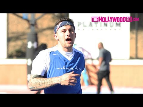 Johnny Manziel Plays In The Chacha The Wave Vs. Jamie Foxx Celebrity Basketball Game 2.17.18