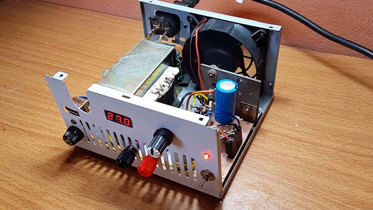How to make adjustable voltage power supply 2V to 30V ...