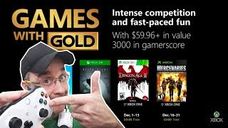 😰 OFICIAL XBOX GAMES WITH GOLD DEZEMBRO 2018