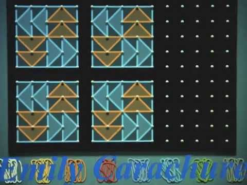 Freedom Quilt Squares on GeoBoard App - YouTube