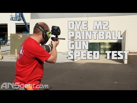 Dye M2 Paintball Gun - Speed Test
