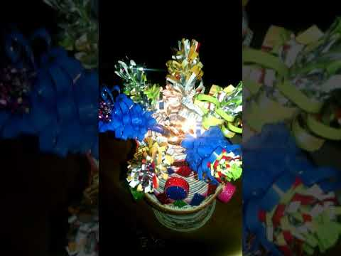 Amazing crafts  light lamp make by West material newspaper